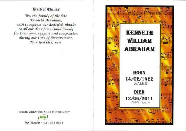 ABRAHAM, Kenneth William 1922-2011_1