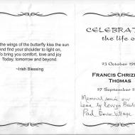 THOMAS, Francis Chrizelda 1916-2012_01